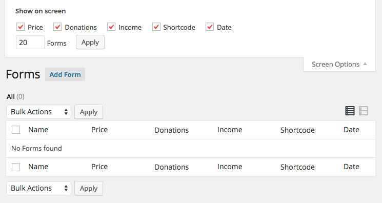Give Donation WordPress plugin All Forms