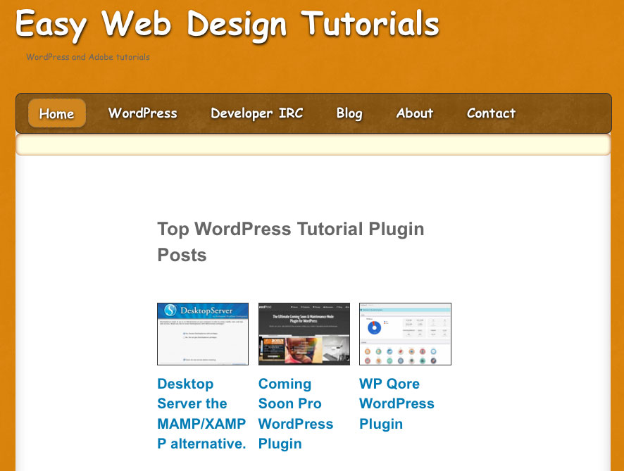 The themify framework easy web design tutorials for At home web design