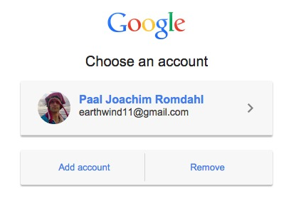 Google Choose an account