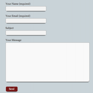 WordPress plugin Contact Form 7 css styled form