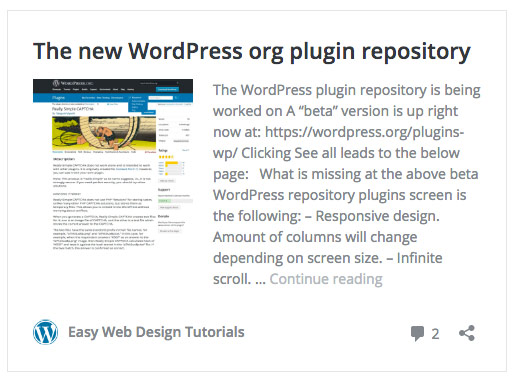 Adjusting the auto embed of WordPress site links | Easy Web Design