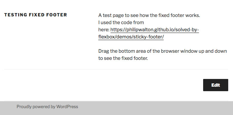 Creating a footer that sticks to the bottom | Easy Web