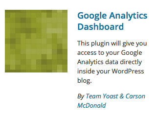 Google Analytics Dashboard plugin logo