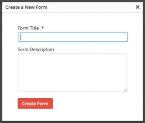 Gravity Forms - create a form dialog box