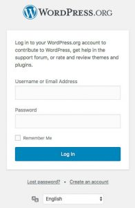 Login-to-WordPress-org