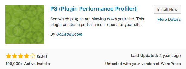 P3 Plugin Performance Profiler Plugin WordPress