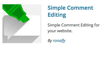 Simple Comment Editing logo