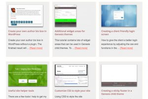 Thumbnail blog post previews in WordPress
