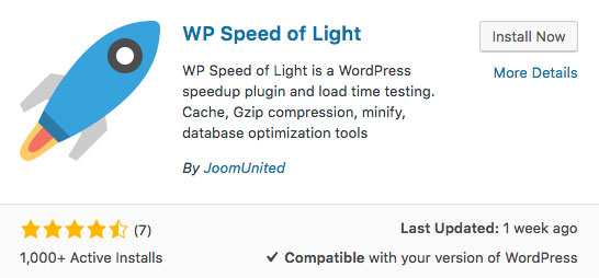 WP Speed of Light WordPress plugin