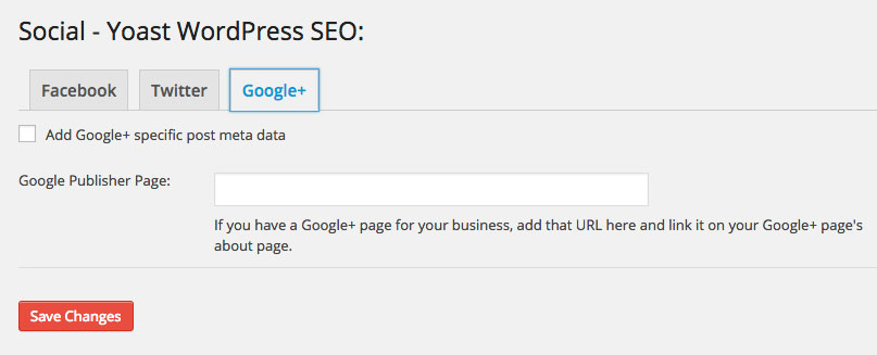 WordPress SEO Plugin Social Google+