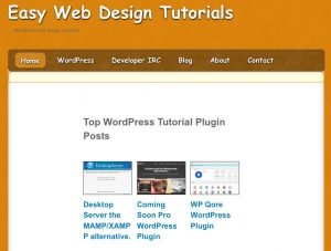 Easy web design tutorials front page